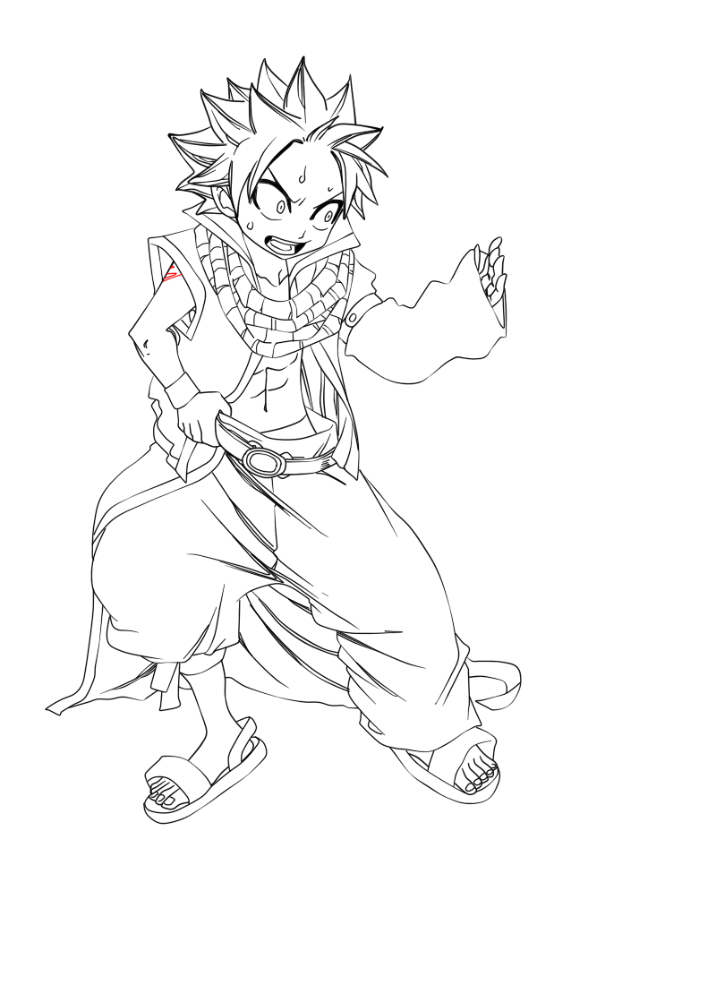 Natsu Lineart : Little natsu lineart by forestmaidenlily on deviantart