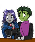 Beastboy and Raven