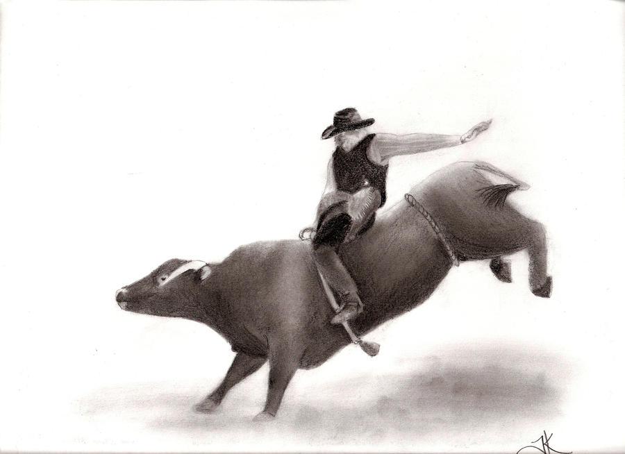 Bull Riding Drawings Httpwwwpencildrawingnetprintsbullriding Pictures