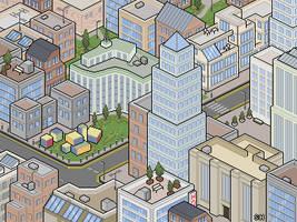 Pixel City Test by Seigneur-Hellequin