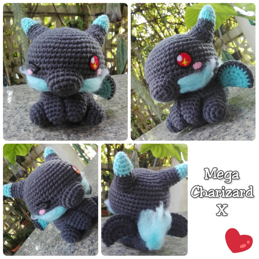 Amigurumi - Mega Charizardx(Pokemon) by TeaTlme on ...