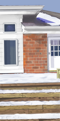 Wintery House painting by Furresoto