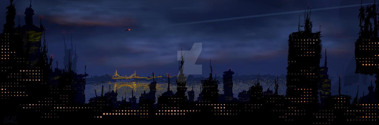 City Dawn by DeerDreamer