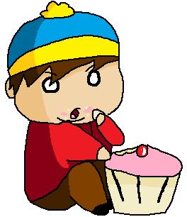 Cartman eating a cupcake by allysapi