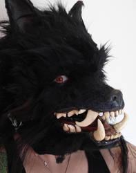 werewolf head by missmonster