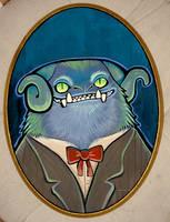 victorian monster portrait by missmonster