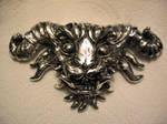 silver demon pendant