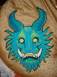 blue demon cat head