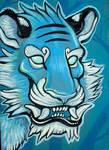 blu cat portrait commission