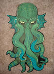 Cthulhu wood cut out