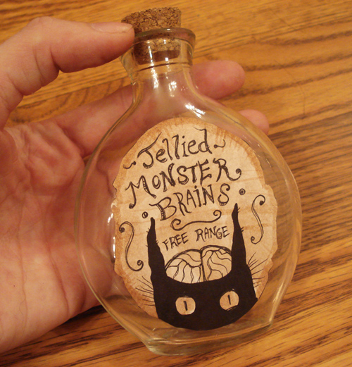Monster brains jar by missmonster