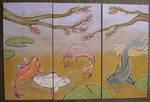 koi triptych