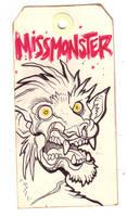 Zombie toe tag badge