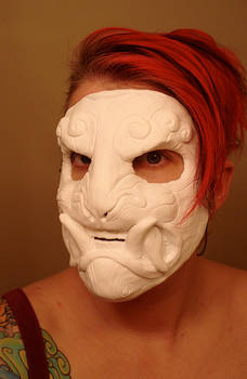 Demon mask plastic copy