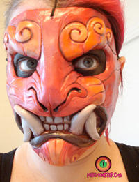 Foo mask plus makeup
