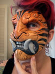 Striped demon mask