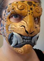 Leopard demon mask by missmonster