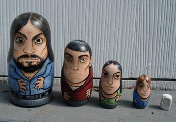 Manson Family Nesting Dolls by missmonster