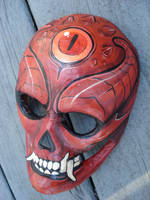 Paper mache devil mask by missmonster