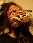 Boar monster mask hair