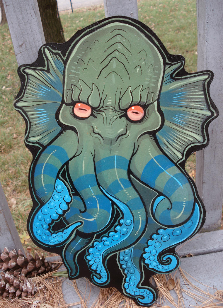 Mini Cthulhu head by missmonster