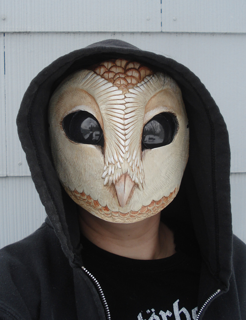 crow head mask