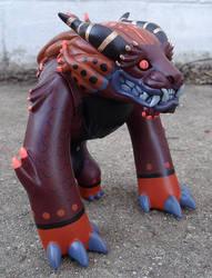 Foo Dog Toy custom 1 plum-gold
