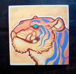 Tiger smirk painting