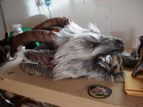 Demon skin rug WIP 4
