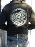 Werewolf zip up hoodie GLOWS