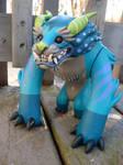Custom Foo Dog toy- blue