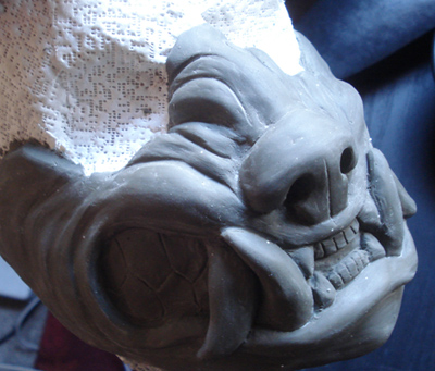Werewolf mask WIP by missmonster