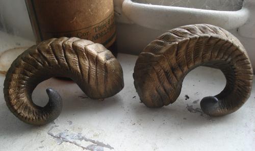 Ram horn cast barrette by missmonster
