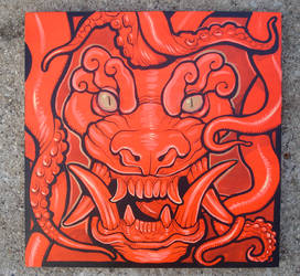 Fire Demon original painting by missmonster