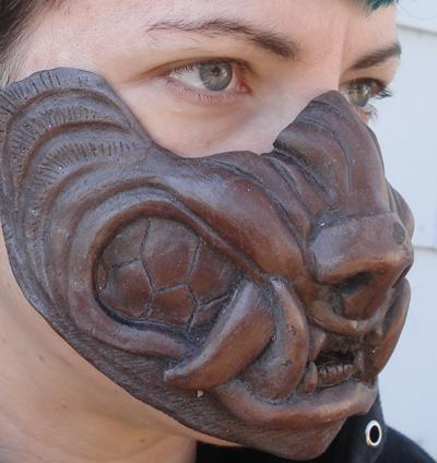 Cold cast copper werewolf mask by missmonster