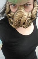 Brass Cthulhu mask by missmonster