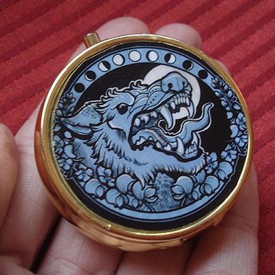 Werewolf pill box by missmonster