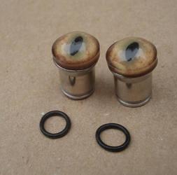 Monster eye earrings 0g by missmonster