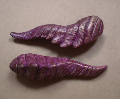 PurpGold Dragon Horn Barrette by missmonster