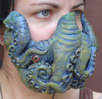 Green tentacle mask by missmonster