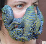 Green tentacle mask