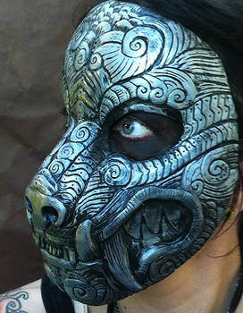 Ornate Monster Mask Silver