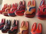 kitsune mask barrettes