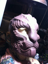 Cat Dragon thing mask WIP by missmonster