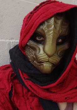 Dragoncat mask metallic brown-green by missmonster