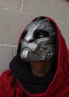 Dragoncat mask - silver by missmonster