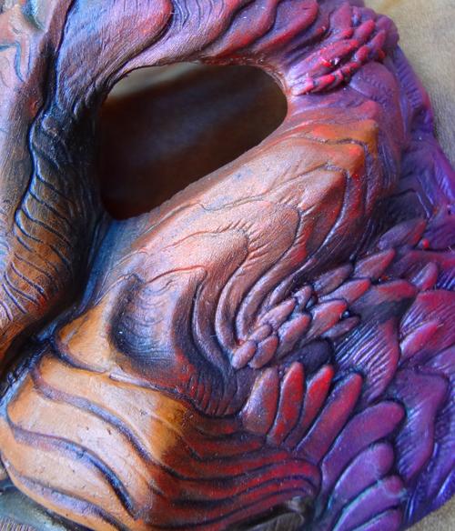 Phoenix Dragoncat mask colorway by missmonster