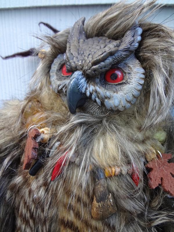 Sam the Owlbear doll by missmonster