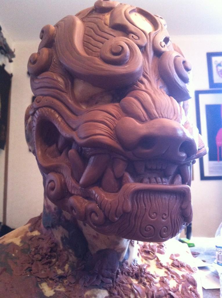 Komainu mask sculpt by missmonster