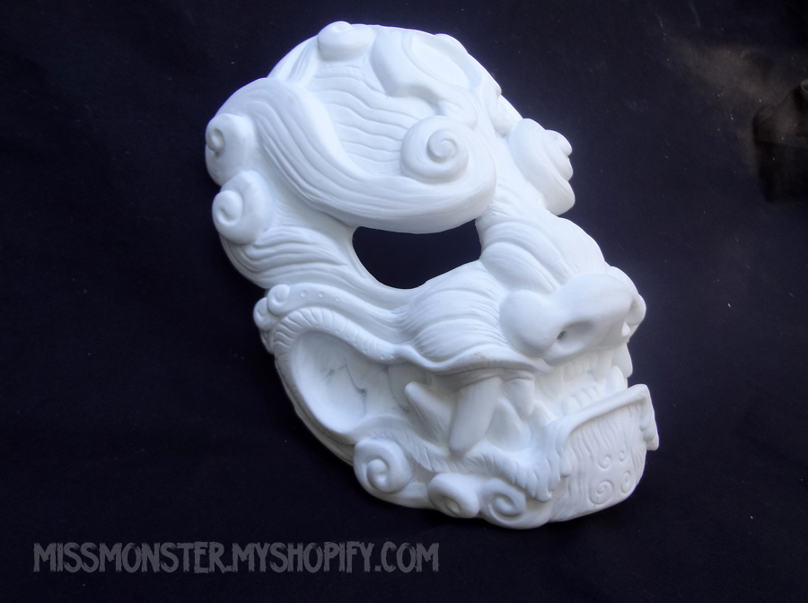 Komainu mask BLANKS for sale by missmonster